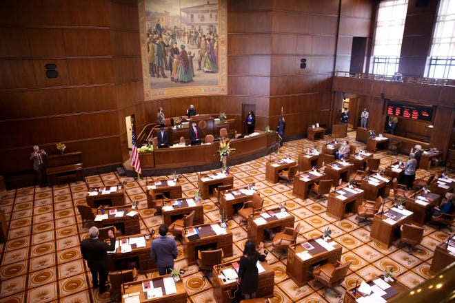 Legislators gathered Monday for swearing-in ceremonies during Organizational Days for the 81st Legislative Assembly.