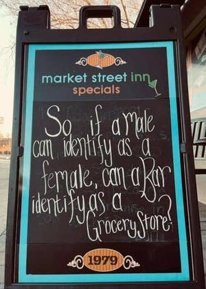 """So if a male can identify as a female, can a bar identify as a grocery store?"""""""