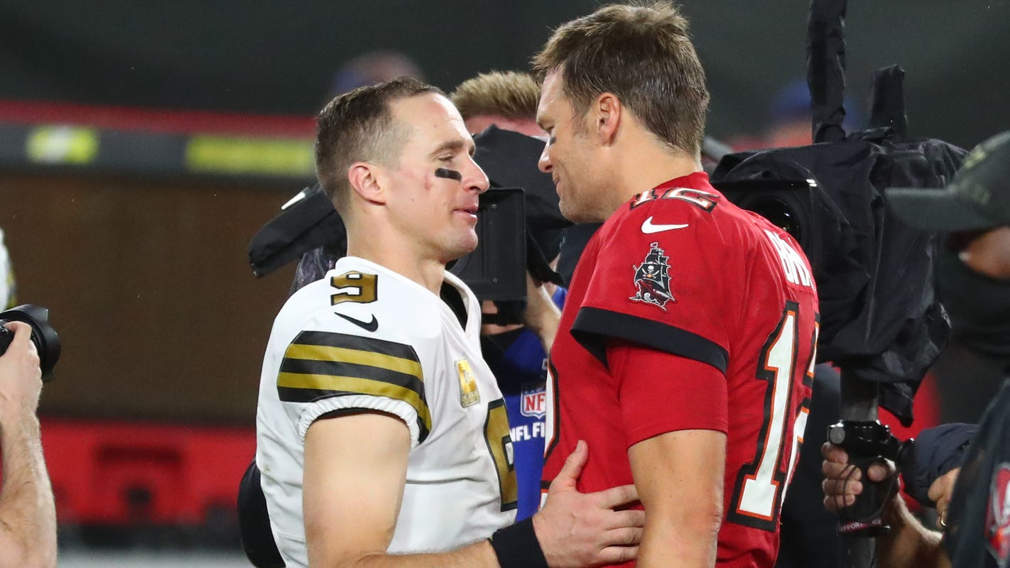 NFL playoffs divisional round shaping up as rivalry week, featuring Tom Brady vs. Drew Brees