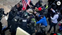 Witness the chaos as rioters breach U.S. Capitol Police barricades and assault officers