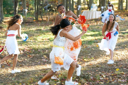 The wedding photo group date turns into a free-for-all game of capture the flag.