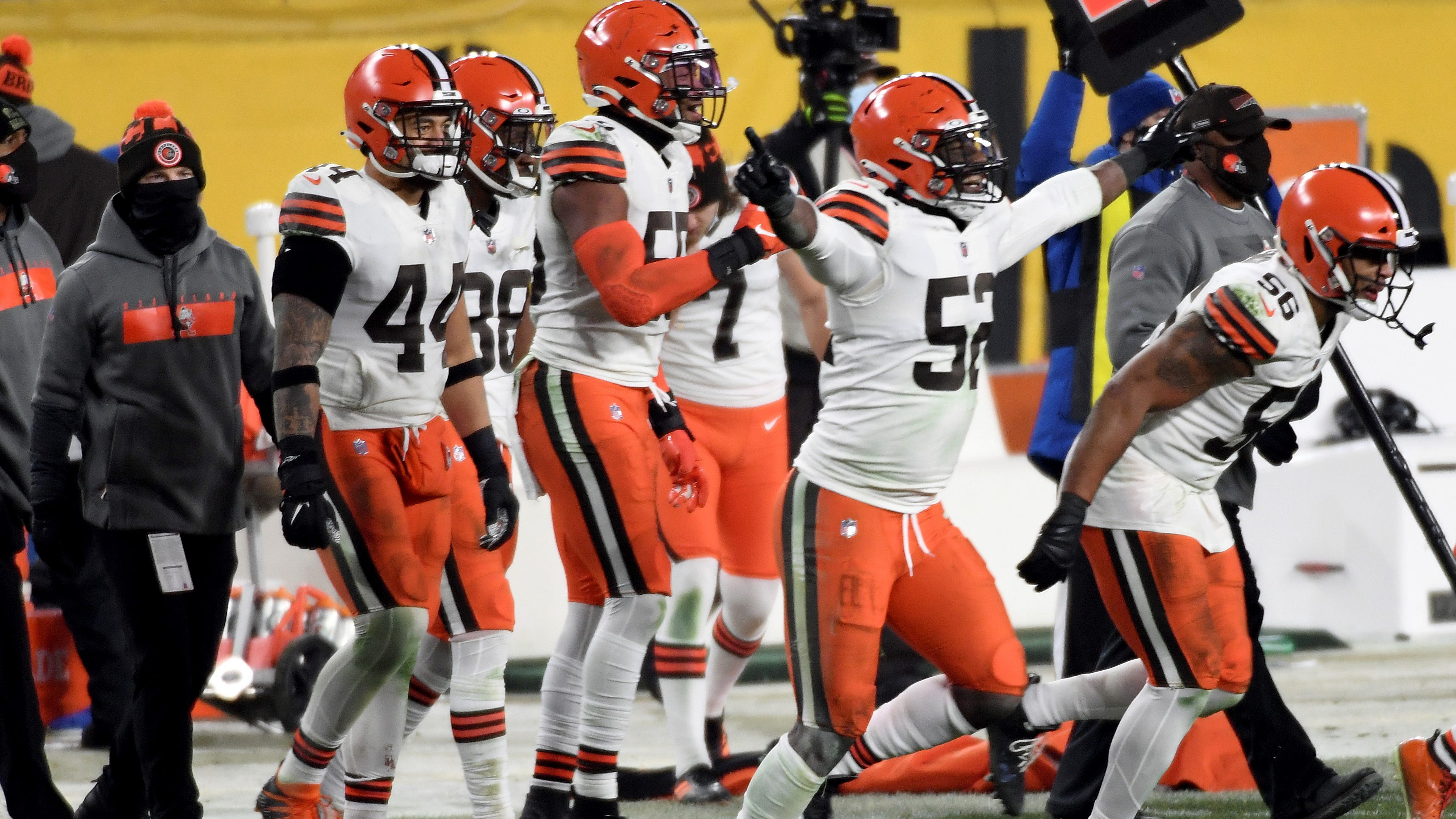 Something you haven't seen in 26 years: the Cleveland Browns celebrating an NFL playoff victory.