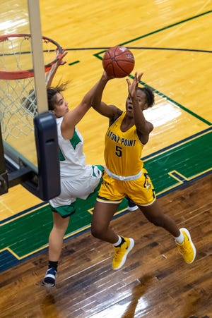 Nariyah Buggs led three Stony Point players in double-digit scoring with 15 points in a win over Hutto last week that moved the Tigers within a game of a playoff spot in District 25-6A.
