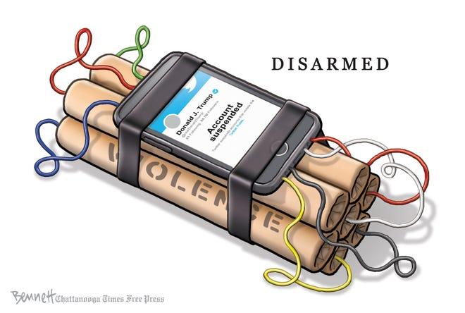 Editorial cartoon: Disarmed