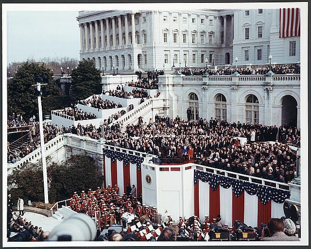 The presidential inauguration for Ronald Reagan on Jan. 20, 1981, was the warmest on record: a balmy 55 degrees.