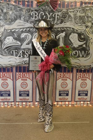 Taylor Simpson, an Early Middle School eighth-grader, was crowned Junior Miss Monday night at the fashion show.