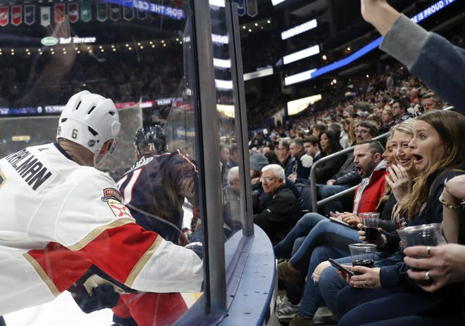 Whatever Nationwide Arena looks like if and when it receives a variance to allow a limited number of fans for Blue Jackets games, it won't be anywhere near as crowded as this February game against Florida.