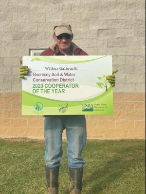 Wilbur Galbraith was selected 2020 Cooperator of the Year by the Guernsey County Soil and Water Conservation District.