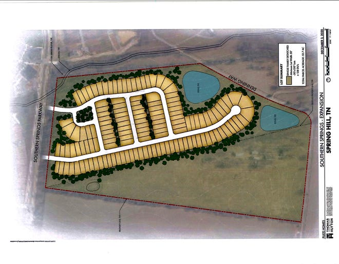 Pulte Homes is looking to expand the current Southern Springs neighborhood, which is currently developing 800 homes. An annexation request would add an additional 138 homes.
