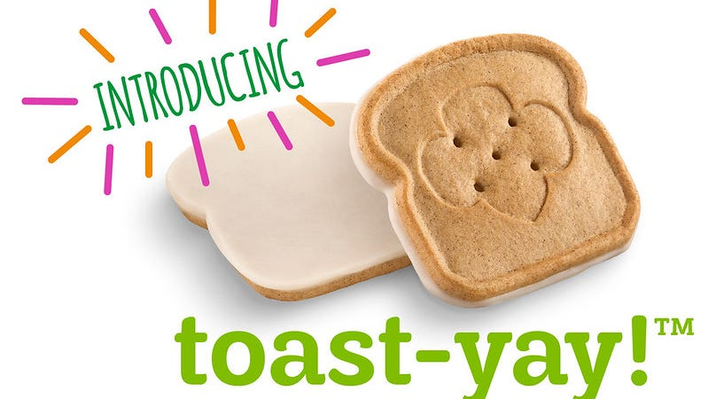 """Girl Scouts are shaking things up with their new Toast-Yay cookie.  According to their website, the """"toast-shaped cookie is full of French toast flavor and flair and stamped with the trusted Girl Scouts' signature trefoil on top."""""""