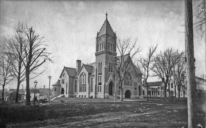 When the current Methodist Church was completed in 1890, the streets surrounding it were not yet paved, and a 86-foot tower that would be removed years later anchored the structure. To make room for a modern sanctuary, demolition of the 1890 building will begin this week.