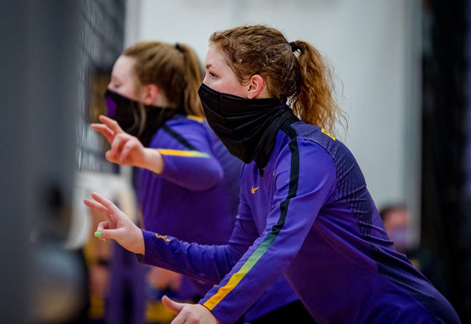 Blue Springs junior Chloe Kaminski, front, who has verbally committed to Oklahoma, is already a two-time Examiner Volleyball Player of the Year.