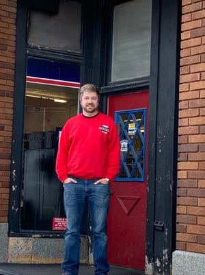 Adam Bakener of Orion and his girlfriend, Stephanie Armoska, are buying Orion True Value Hardware. The name will remain the same, but the entrance will change.