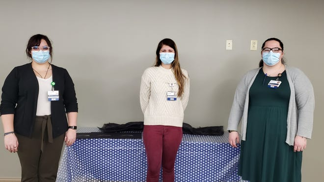 The RN Residency class included Mallory Harshbarger, RN, Jordan Heimerman, RN and Samantha Rohleder, RN.
