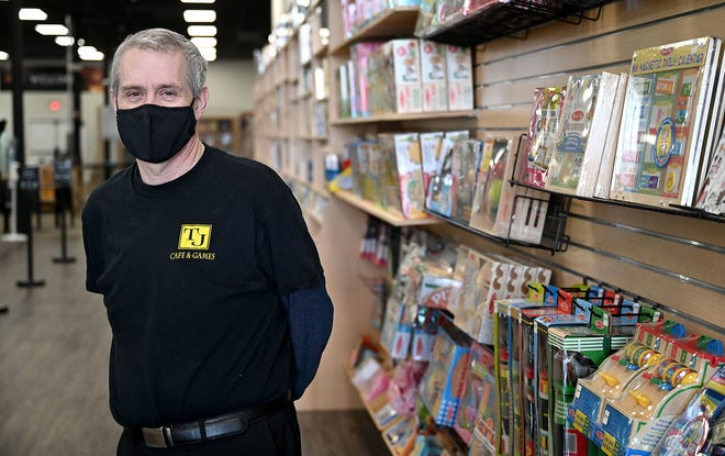 Tom Shea, owner of TJ Cafe & Games in Milford, said during an interview on Jan. 12, 2021, that his store was in need of a face-lift. The former TJ Collectibles is now at the Milford South Plaza on 146 South Main St. (Rte. 140).