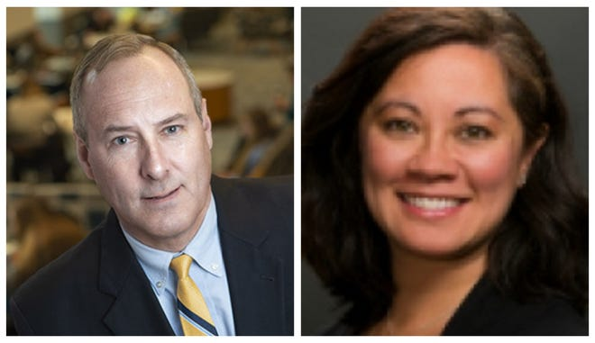 2021 Economic Forecast presenters include Andrew Smith, director of the University of New Hampshire Survey Center, and Liz Gray, state director for the New Hampshire Small Business Development Center.