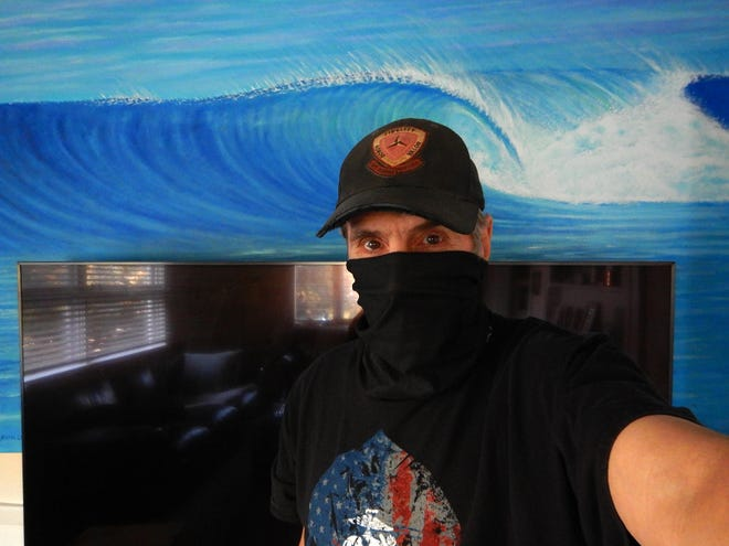 Surf blogger Ralph Fatello takes a selfie while quarantining at home. Fatello tested positive for COVID-19 over the weekend.