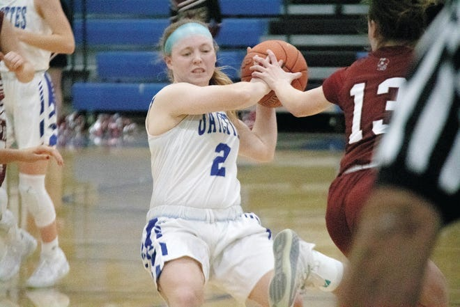 Kennedy Tunink in action during a home contest against South Hamilton on Monday, Jan. 11.