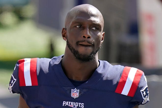 New England's Jason McCourty during a game against the Dolphins in 2020.
