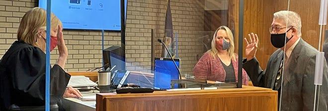 Jim DuBois is sworn in Monday as Saline County treasurer.