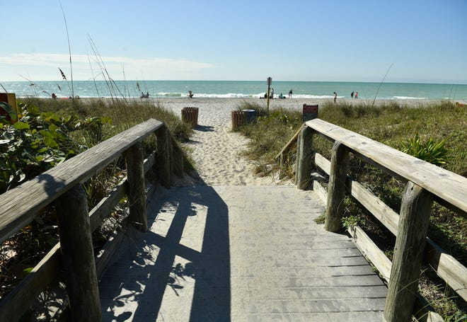 Englewood Beach. The south end of Manasota Key in Charlotte County has a distinctly different feel than North Manasota Key in Sarasota County.  With its condominiums, restaurants and vacation rentals it feels more like a beach resort town.