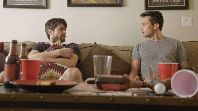 """James Lafferty (left) and Stephen Colletti star in """"Everyone Is Doing Great,"""" a new series they created, wrote and produced that will premiere on Hulu on Jan. 13."""