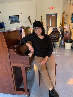 Ms. Camden, WCH Chorus Teacher, uses music to focus lessons on Martin Luther King Jr. [CONTRIBUTED PHOTO]