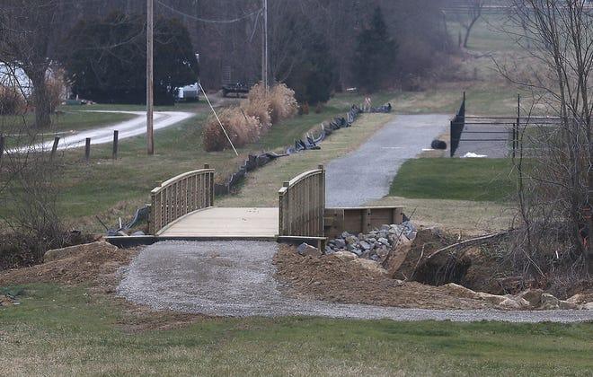 One of the bridges at the New Philadelphia Southside Community Park. (TimesReporter.com / Jim Cummings)