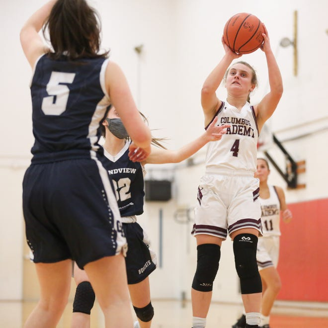 Sophie Spolter was averaging a team-high 13.5 points for Columbus Academy through six games. As the season continues, coach HeatherRakosik said the Vikings will be fine-tuning elements of their offense and defense.