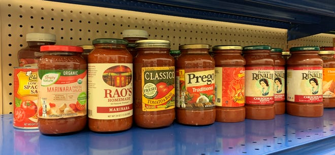 Help us restock our pasta sauce shelf. The Natick Service Council is accepting nonperishable food donations at Roche Bros in Natick. Due to COVID restrictions, only new items purchased from the store will be accepted.