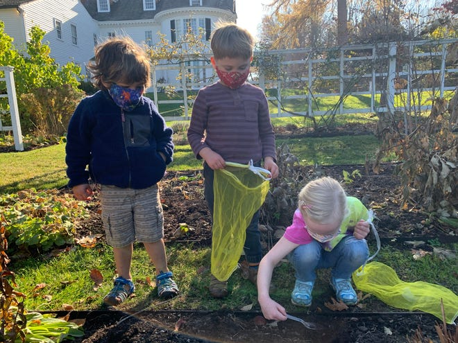 Wee explorers at The Stevens-Coolidge Place.