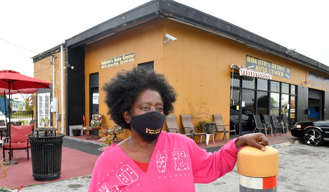 Stephanie Carder-Gallon is the owner of Dakota's Detail & Auto Center, along with her husband, Dennis Gallon. The business is located at 1003 N. Cocoa Blvd. (U.S. 1) in Cocoa, in front of Byrd Plaza. They named their business after one of their deceased and beloved dogs, Dakota.