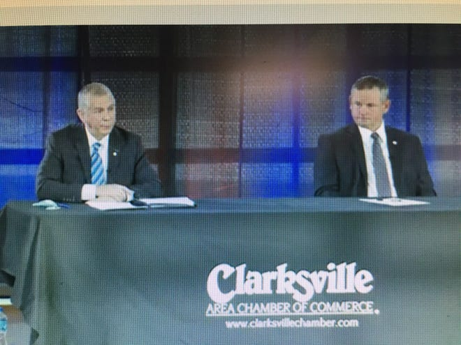 Screen grab of livestreamed 2021 Clarksville-Montgomery County Mayors Power Breakfast