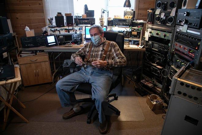 Jeff Stricker of Calumet sits in his amateur radio man cave Sunday Oct. 25, 2020.