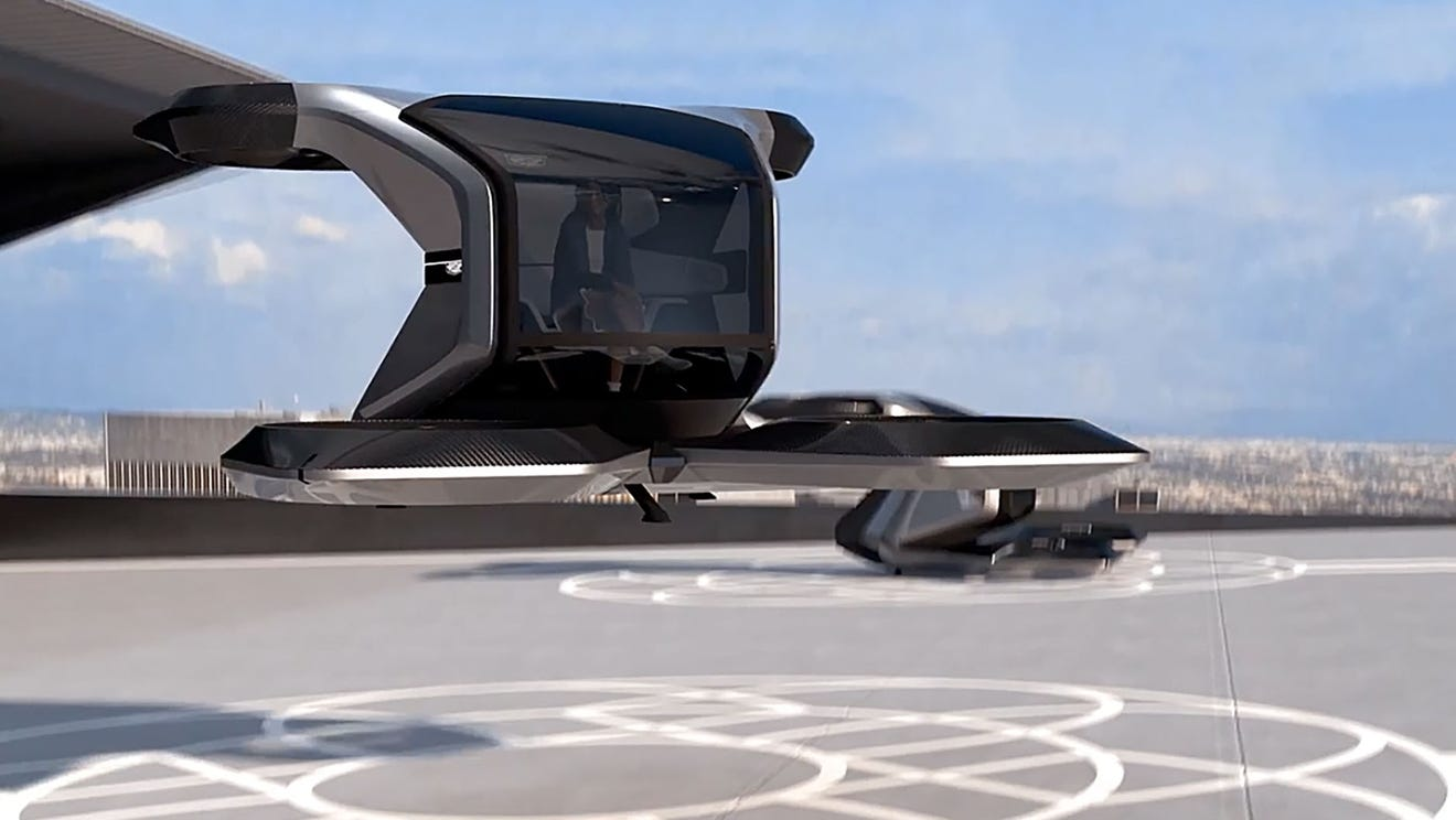 GM shows off flying car idea, the Cadillac Halo