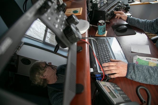 Bill LaBell of Allouez Township takes part in a worldwide ham radio contest on Sunday Oct. 25, 2020.