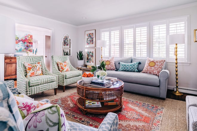 A living room designed by Amanda Louise