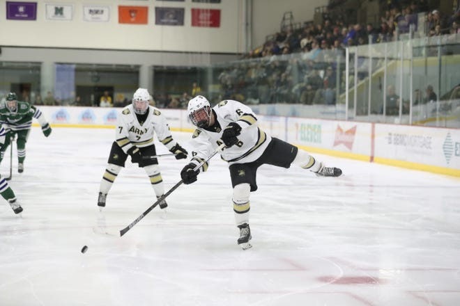 Colin Bilek of Brighton scored six goals during a three-game stretch for the Army West Point hockey team.