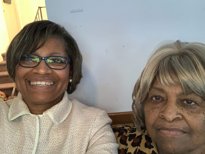 Jackie Peterson, left, with her mother, Bertha Barber, at a Mother's Day brunch in May 2019. Barber died from COVID-19 last October.
