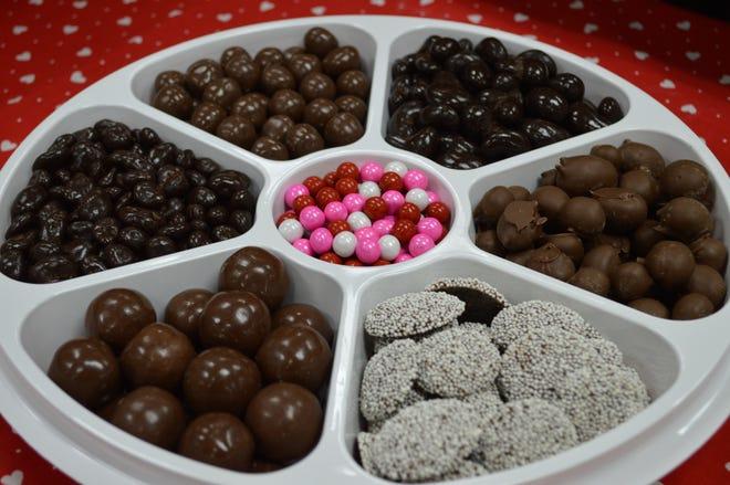 Half Nuts has customizable gift trays.