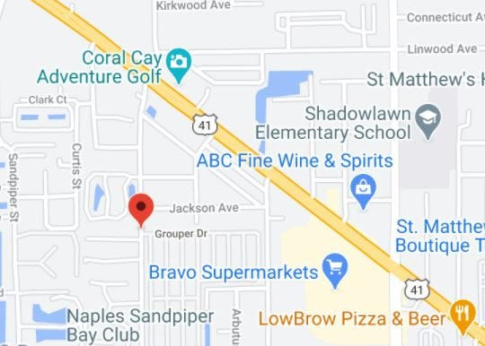 Florida Highway Patrol reported a Naples motorcyclist is in serious condition after he was hit by a Massachusetts driver on Palm Street near Grouper Drive on Monday, Jan. 11, 2021.