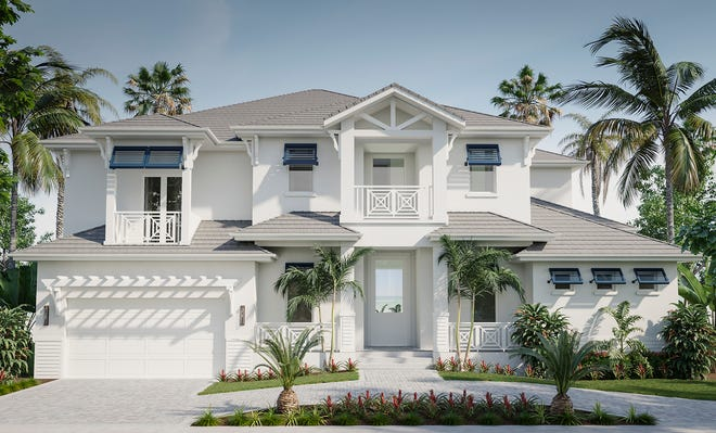 Divco Custom Homes' beautiful Cayman model is located on a waterfront homesite on Marco Island.