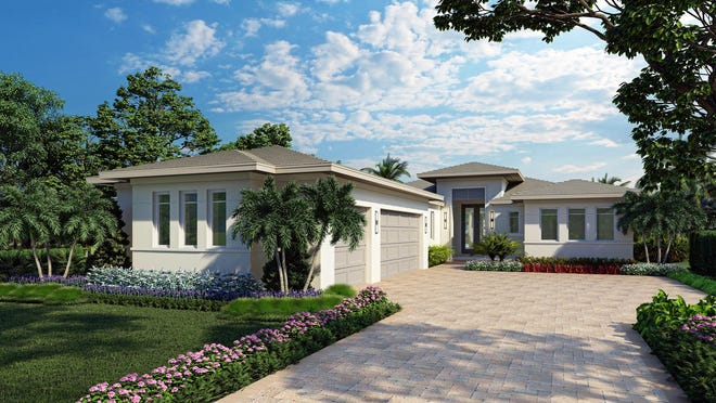 London Bay Homes' 3,377-square-foot Mallory home design will offer four bedrooms, four baths, and an expansive outdoor living space in the Cabreo neighborhood