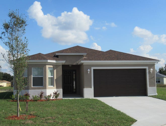 The new Fiesta, a three-bedroom plus den two-bath home by FL Star at Arrowhead Reserve in Immokalee, will use the design of this recently completed Fiesta home.