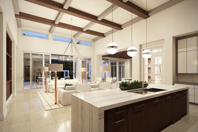 The Portmore model's clerestory windows welcome additional light into the 4,059-square-foot home.