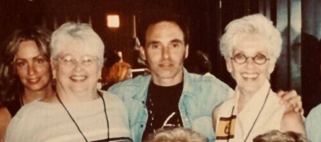 Patricia Landers (right) with her family (from left to right) daughter Amy Aiello Lofgren, sister Judy Corvelli, and son-in-law Nils Lofgren
