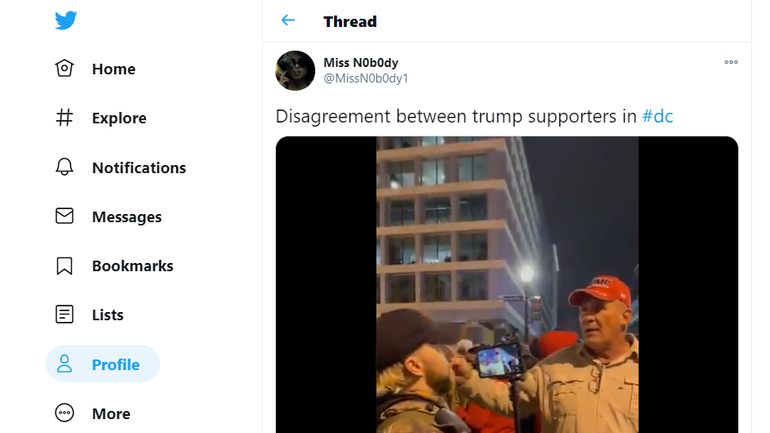Video posted to Twitter shows a man who said he was from Queen Creek being interviewed the night before the riots in Washington, D.C.
