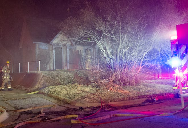 Wichita Falls Firefighters worked to control a Monday night fire on Seventh Street.