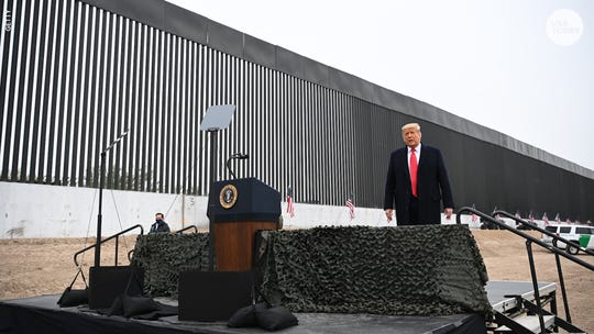 "President Donald Trump promised a ""big, beautiful wall"" along the U.S.-Mexican border."