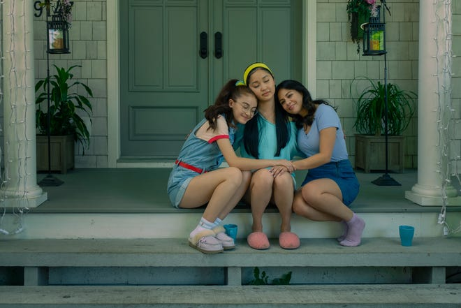 "Sisters Kitty (Anna Cathcart), Lara Jean (Lana Condor) and Margot (Janel Parrish) are there for each other in the tough times in ""To All the Boys: Always and Forever."""